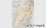 Satellite 3D Map of Kalat, semi-desaturated