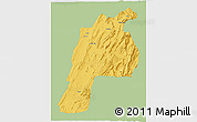 Savanna Style 3D Map of Kalat, single color outside