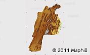 Physical Map of Kalat, cropped outside