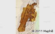 Physical Map of Kalat, lighten