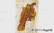 Physical Map of Kalat, satellite outside