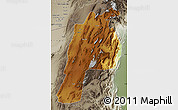 Physical Map of Kalat, semi-desaturated