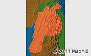Political Map of Kalat, darken