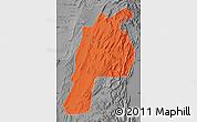 Political Map of Kalat, desaturated