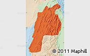 Political Map of Kalat, lighten
