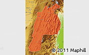 Political Map of Kalat, physical outside