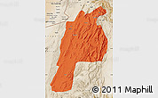 Political Map of Kalat, satellite outside