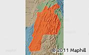 Political Map of Kalat, semi-desaturated