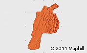 Political Map of Kalat, single color outside