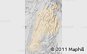 Satellite Map of Kalat, desaturated