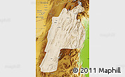 Satellite Map of Kalat, physical outside