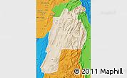 Satellite Map of Kalat, political outside