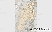 Satellite Map of Kalat, semi-desaturated