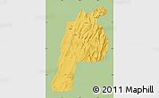 Savanna Style Map of Kalat, single color outside