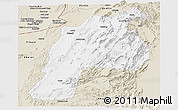 Classic Style Panoramic Map of Kalat