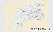 Classic Style Panoramic Map of Kalat, single color outside