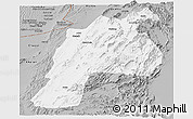 Gray Panoramic Map of Kalat