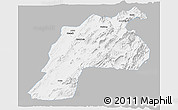 Gray Panoramic Map of Kalat, single color outside