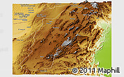 Physical Panoramic Map of Kalat