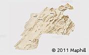 Satellite Panoramic Map of Kalat, cropped outside
