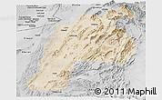 Satellite Panoramic Map of Kalat, desaturated