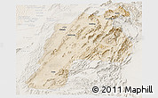 Satellite Panoramic Map of Kalat, lighten