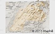 Satellite Panoramic Map of Kalat, semi-desaturated