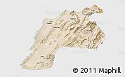 Satellite Panoramic Map of Kalat, single color outside