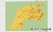 Savanna Style Panoramic Map of Kalat, single color outside