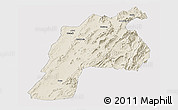 Shaded Relief Panoramic Map of Kalat, cropped outside