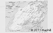 Silver Style Panoramic Map of Kalat