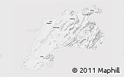 Silver Style Panoramic Map of Kalat, single color outside