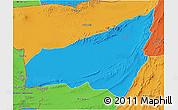 Political 3D Map of Kharan