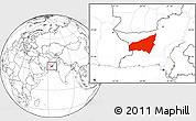 Blank Location Map of Kharan