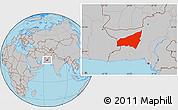 Gray Location Map of Kharan