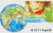 Physical Location Map of Kharan
