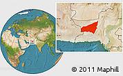 Satellite Location Map of Kharan
