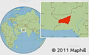 Savanna Style Location Map of Kharan