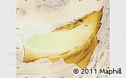 Physical Map of Kharan, lighten