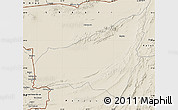 Shaded Relief Map of Kharan