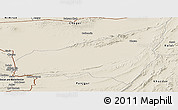Shaded Relief Panoramic Map of Kharan