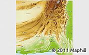 Physical 3D Map of Khuzdar