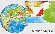 Physical Location Map of Khuzdar, highlighted parent region