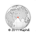 Outline Map of Khuzdar