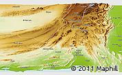 Physical Panoramic Map of Khuzdar