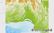 Physical 3D Map of Lasbela