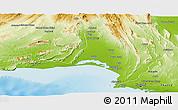 Physical Panoramic Map of Lasbela