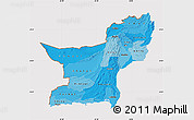 Political Shades Map of Baluchistan, cropped outside
