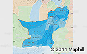 Political Shades Map of Baluchistan, lighten