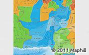 Political Shades Map of Baluchistan